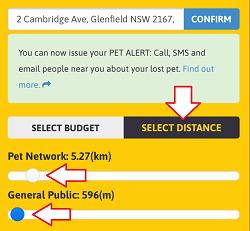 Custom Alert - Select Distance Details